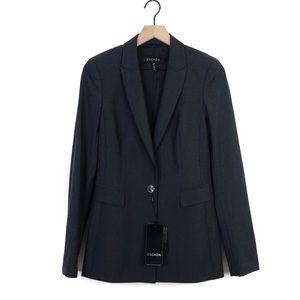Escada New Dark Grey One Button Blazer Jacket 36 S